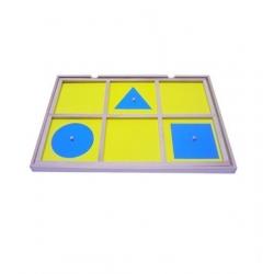 tiroir de geométrie avec formes