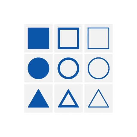 9 cartes de géométrie.