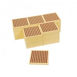 45 plaques de 100 en bois