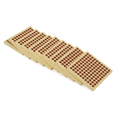 10 plaques de 100 en bois