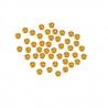 45 perles dorées non montées