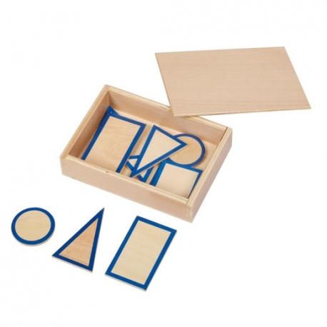 Formes des solides avec leur boîte