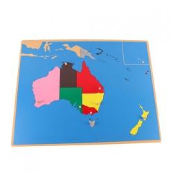 puzzle carte Australie en bois