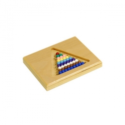 Perle de couleur avec support bois