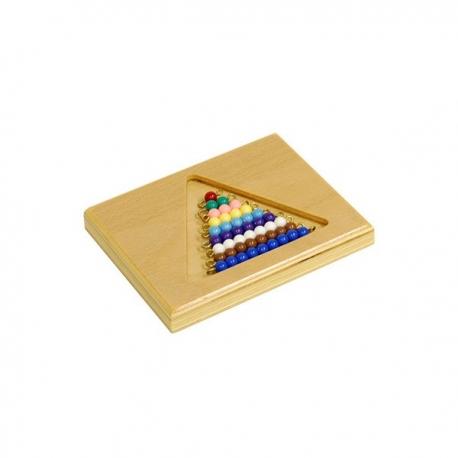 Perles de couleurs avec support bois