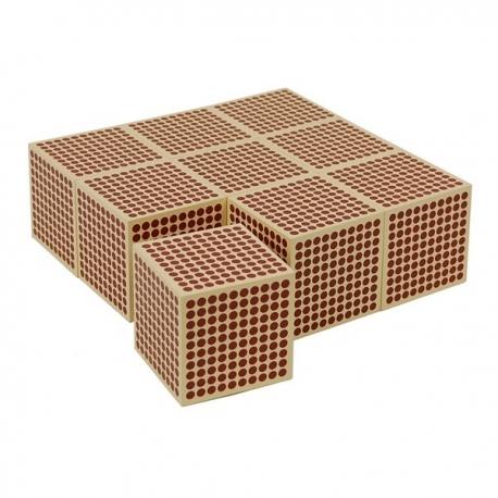 1 cubes en bois de 1000