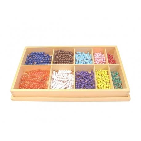 Perles pour les décimaux avec boîte de rangement
