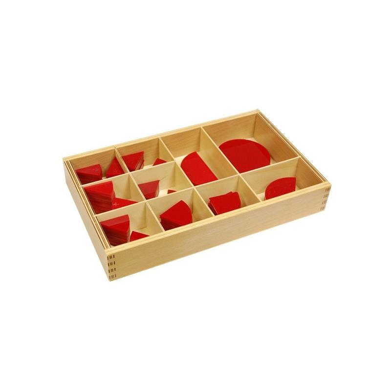 Cercles des fractions en bois 1-10