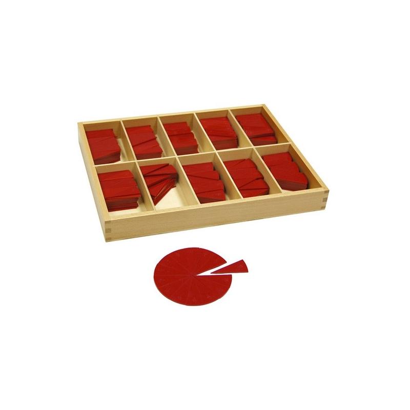 Cercles de fraction en bois de 1/11 à1/20