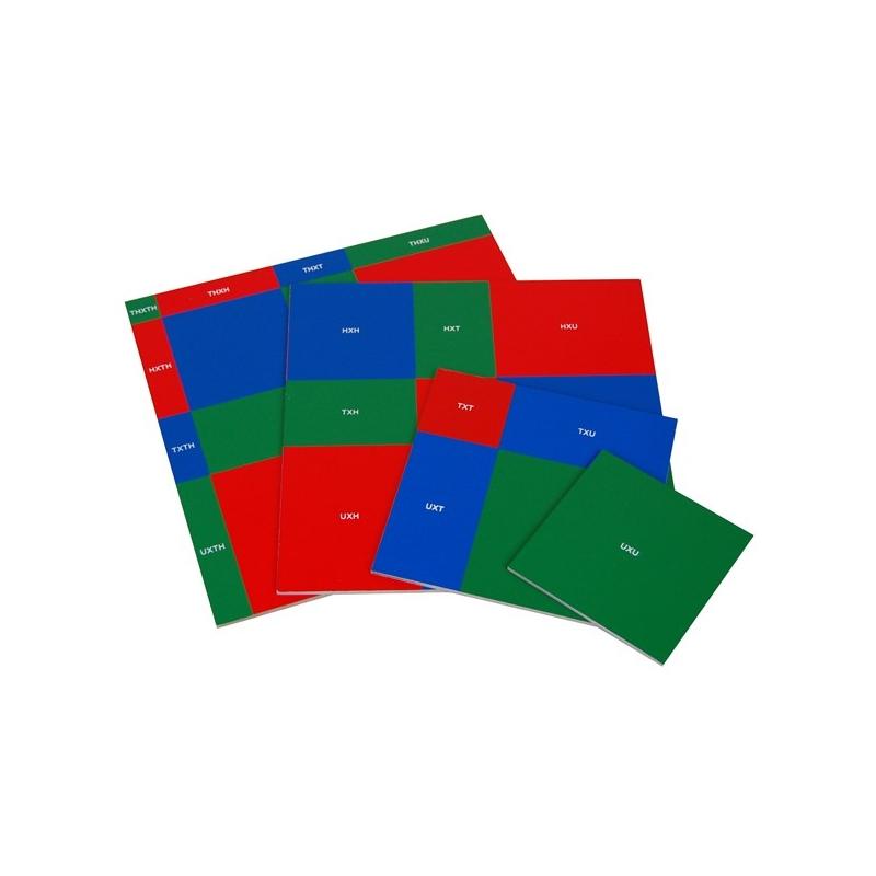 Plaques de la racine carré