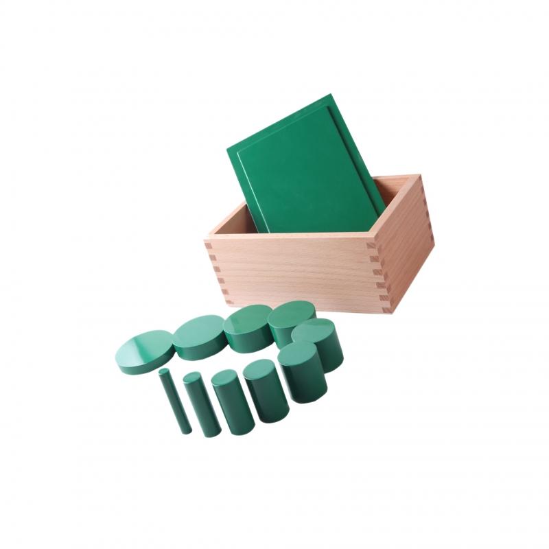 Boite des cylindres verts