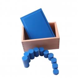 Boite des cylindres bleues