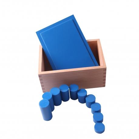 Boîte des cylindres bleus