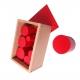 Boite des cylindres rouges