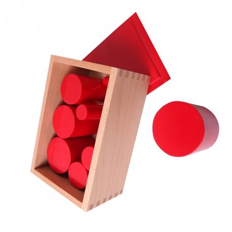 Boîte des cylindres rouges