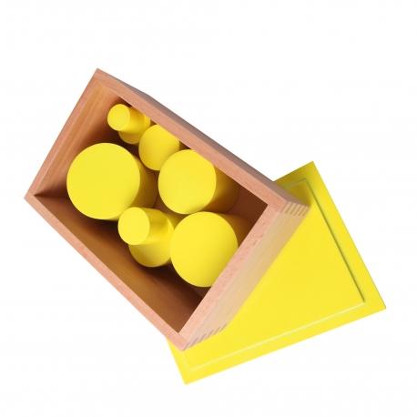 Boîte des cylindres jaunes