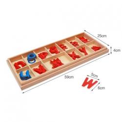 grand alphabet mobile en bois, imprimerie