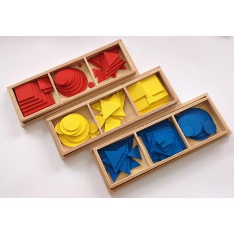 Cercles, carrés et triangles en bois