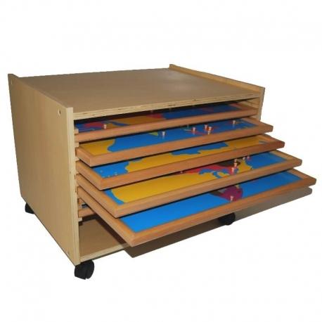 Cabinet complet de 8 puzzles avec cadre
