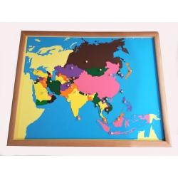 puzzle carte de l'asie en bois