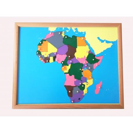 Puzzle carte Afrique avec cadre
