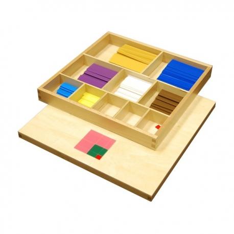 Table de pythagore sensorielle en plastique.