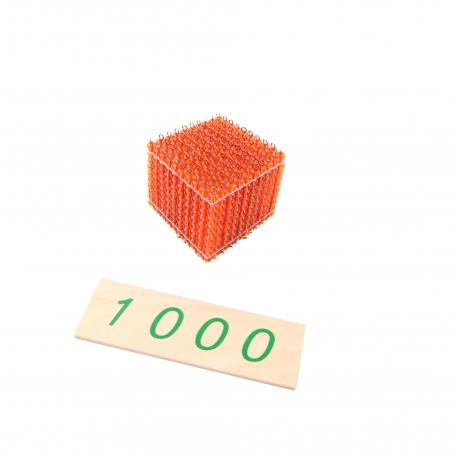 Cubes doré de 1000.