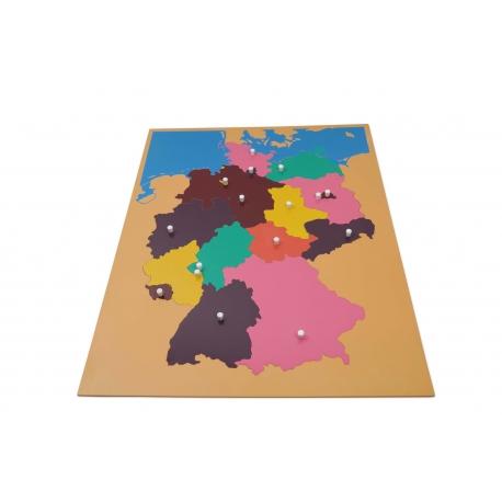 Puzzle carte Allemagne en bois