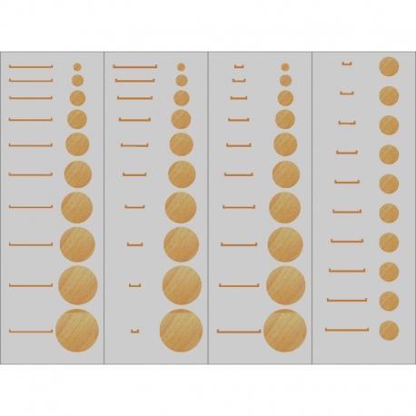 Cartes de contrôle pour emboîtements cylindriques