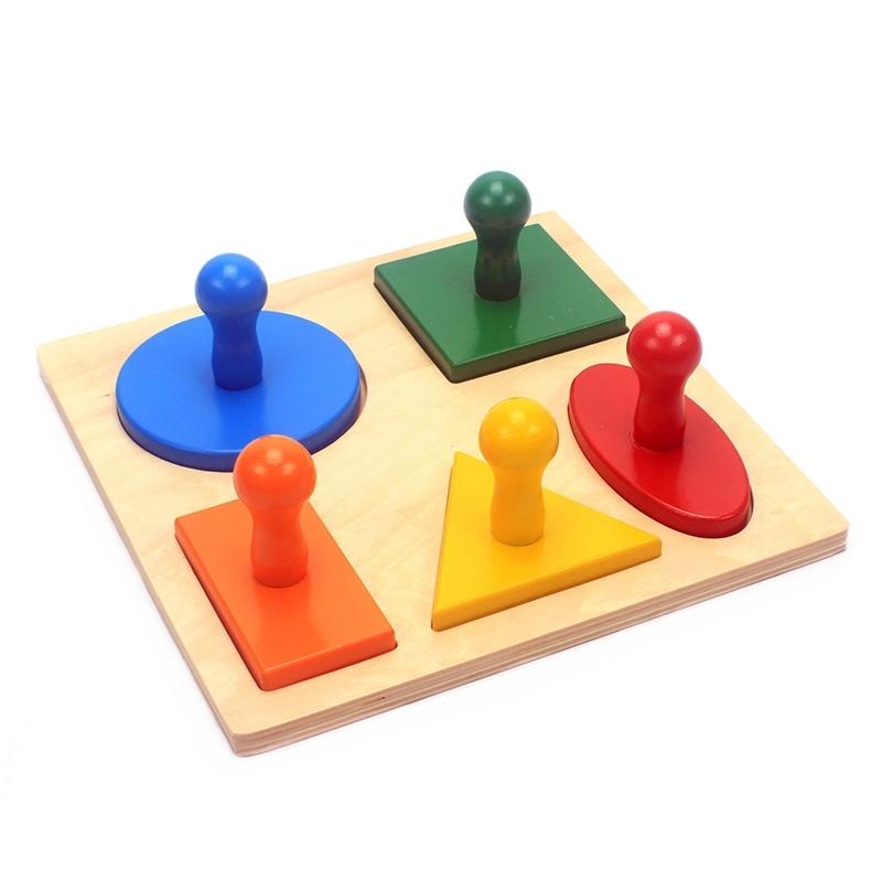 puzzle de 5 formes géométriques simples