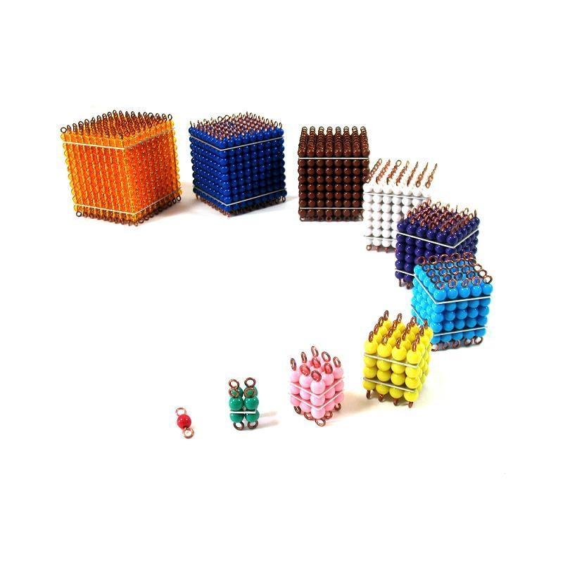 cubes de perles de couleur