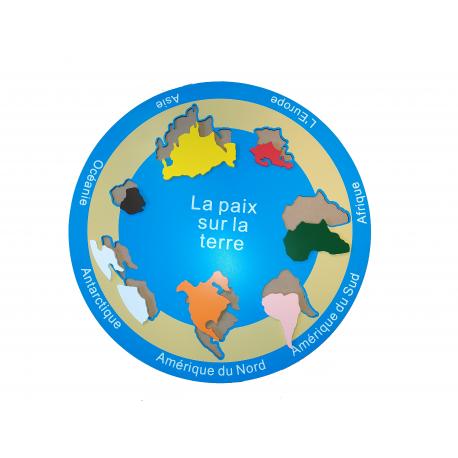 Puzzle carte des continents.
