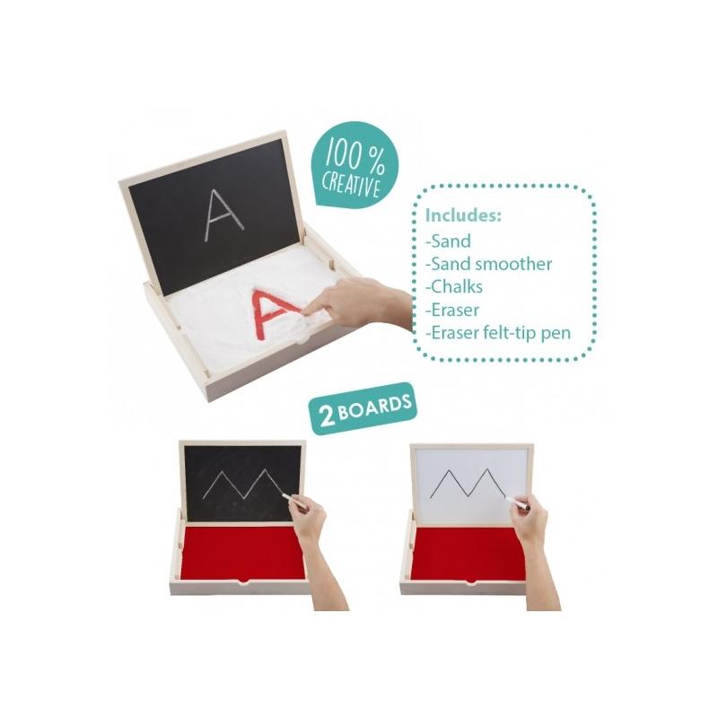 lettres de l'aphabet sur dé en bois