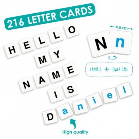 Alphabet: set de 216 lettres.