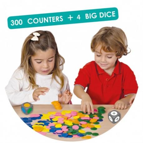 Classer les couleurs et apprendre à compter.
