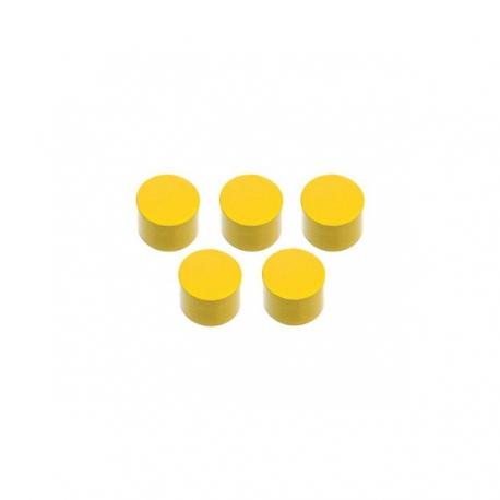 5 plus petits cylindres jaunes.