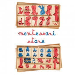 grand alphabet mobile en bois, cursives