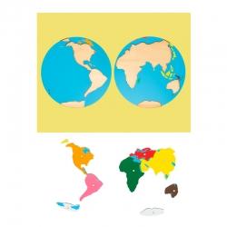 puzzle carte du monde haut de gamme