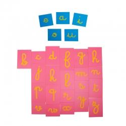 lettres rugueuses lettres cursives avec boite