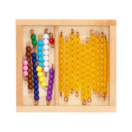 Barre de perles montées pour tableau avec boîte de rangement