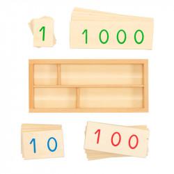 Petites cartes des nombres en bois de 1 à 9000