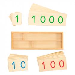 Grandes cartes des nombres en bois de 1 à 9000
