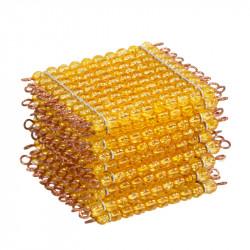 9 plaques de 100 perles dorées montées