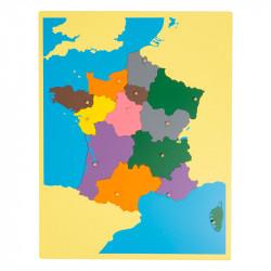 Puzzle carte de France nouvelles régions