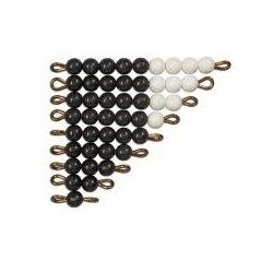 perles noires et blanches