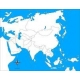 carte d'autocorrection Asie non renseignée