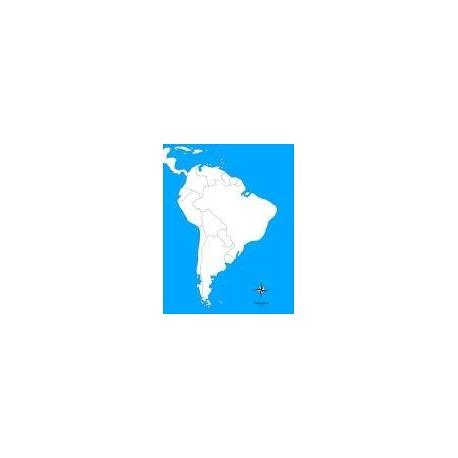 Carte d'autocorrection Amérique du Sud non renseignée