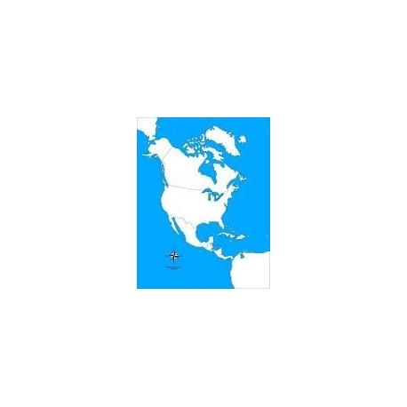 Carte d'autocorrection Amérique du Nord non renseignée