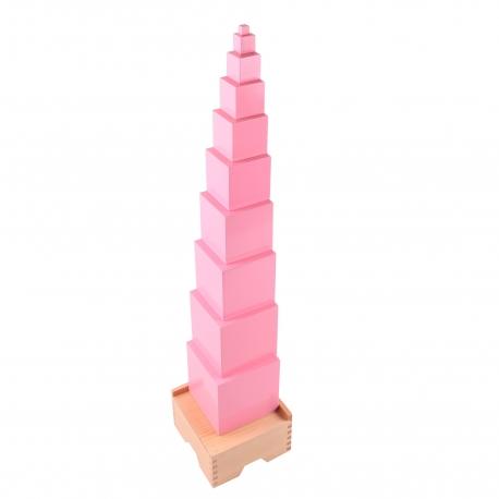 Tour rose haut de gamme hêtre avec socle .