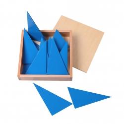 boite des triangles bleus